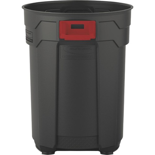 Suncast 55-Gallon Utility Trash Can  Gray,