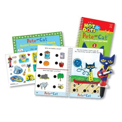 Educational Insights Hot Dots Jr Pete Cat I Love Kindergarten Set