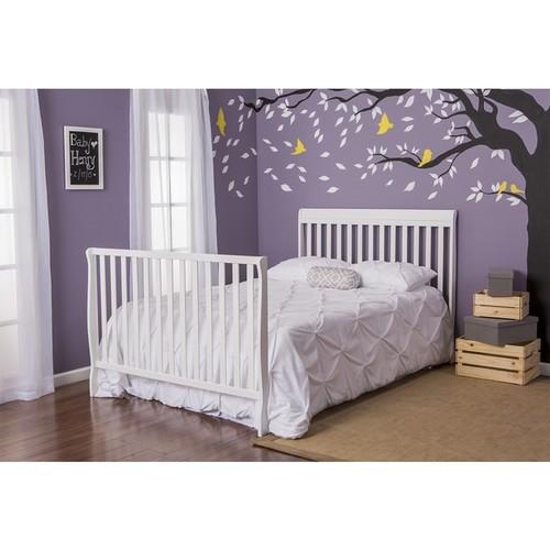 Dream On Me Alissa White 4-in-1 Convertible Crib