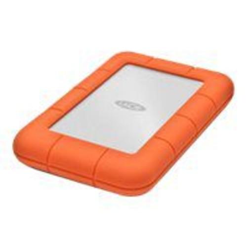 LaCie Rugged Mini 1TB 5 Gbps USB 3.0 External Hard Drive, Orange/Silver (LAC301558)