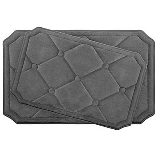 BounceComfort Gertie Aqua Memory Foam 2-Piece Bath Mat Set