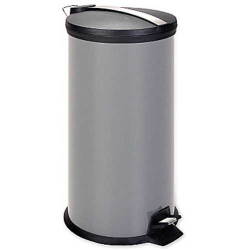 30-Liter Metal Step Trash Can with Recessed Lid