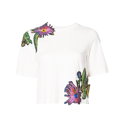 3.1 PHILLIP LIM Floral Embroidered T-Shirt
