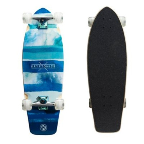Kryptonics Blue Fish Super Fat 30.5-Inch Cruiser Complete Skateboard