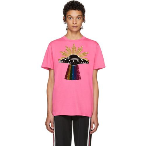 GUCCI Pink Ufo T-Shirt