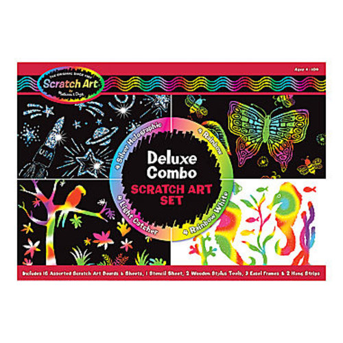Melissa and Doug Kids Toy, Deluxe Combo Scratch Art Set