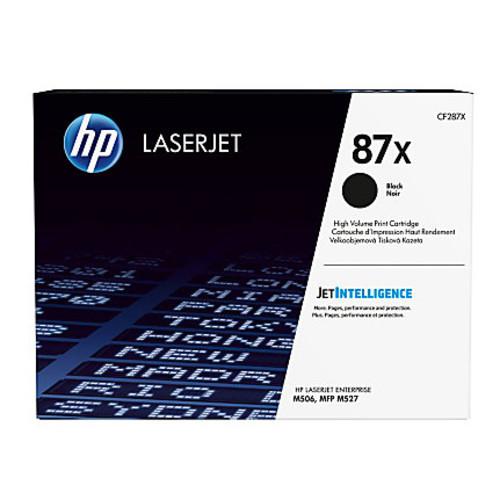 HP 87X LaserJet Enterprise M506/MFP M527 Series High Yield Black Toner Cartridge CF287X