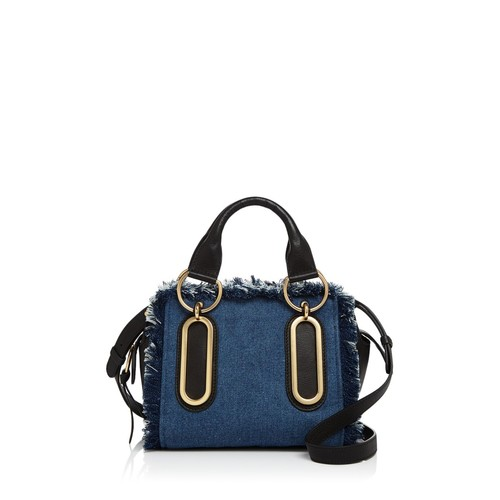 SEE BY CHLOÉ Paige Fringed Denim Satchel