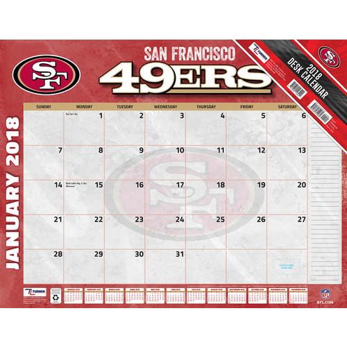 Turner 2018 NFL San Francisco 49ers Desk Calendar