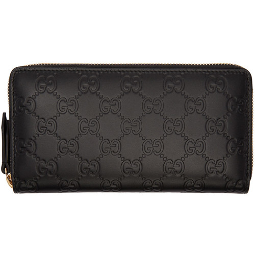 GUCCI Black Signature Logo Wallet