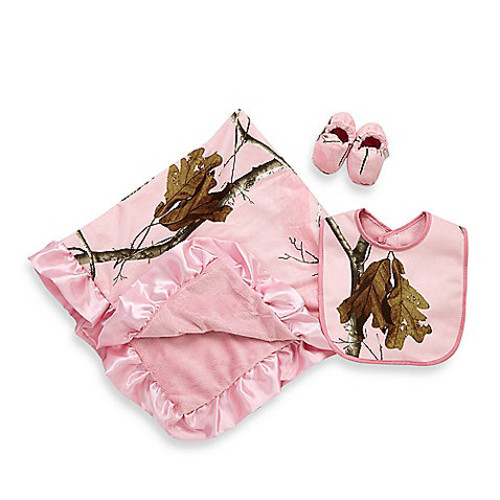 Real Tree AP 3-Piece Baby Gift Set in Pink