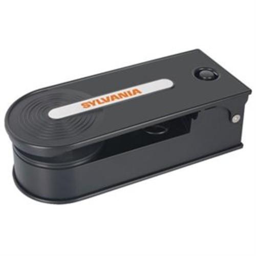 Sylvania Turntable Record Player with USB Encoding, Black [Black]
