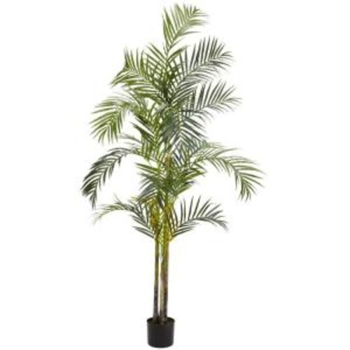 Nearly Natural 7 ft. Green Areca Palm Silk Tree