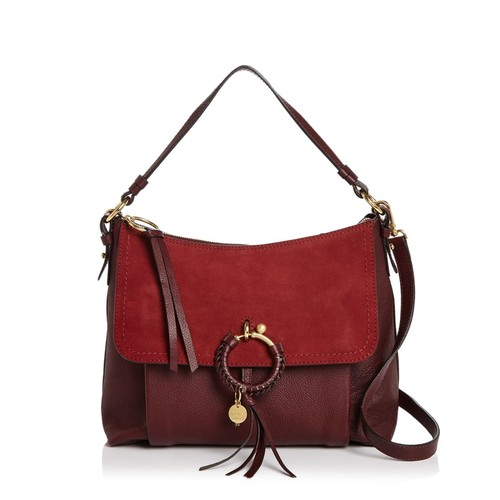 SEE BY CHLOÉ Joan Medium Suede And Leather Shoulder Bag
