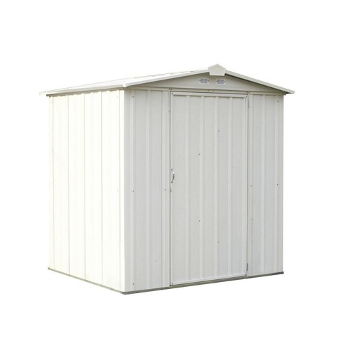 Arrow Ezee Shed 6 ft. x 5 ft. Galvanized Steel Charcoal Low Gable