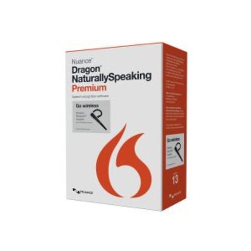 Dragon NaturallySpeaking Premium Wireless - ( v. 13 ) - box pack - 1 user - DVD - Win - French - with Bluetooth headset