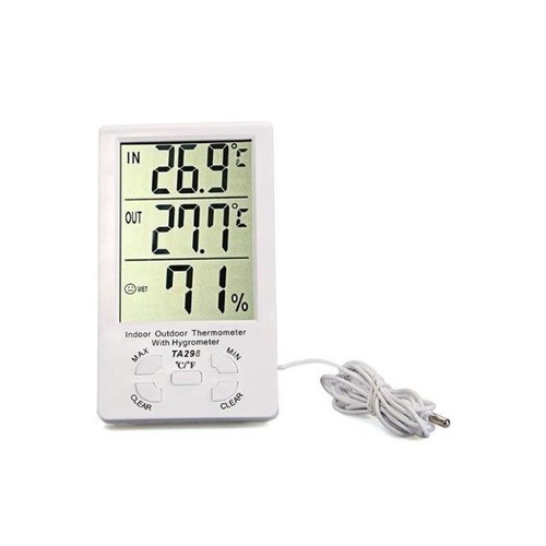 Clock LCD Digital Hygrometer Humidity Thermometer Temperature Meter Gauge
