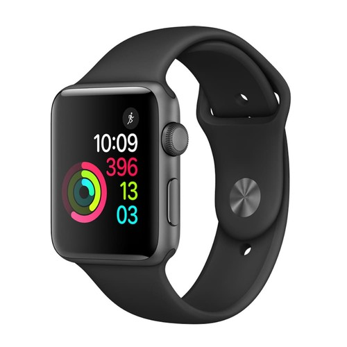 Apple Watch Series 2 (42mm Space Gray Aluminum with Black Sport Band)
