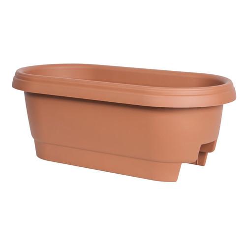 Fiskars 477241-1001 Deck Rail Planter Box, 24-Inch, Color Clay [1]