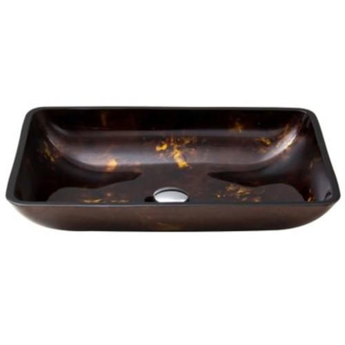 Vigo VG07044 Fusion Glass Vessel Sink in Brown/G
