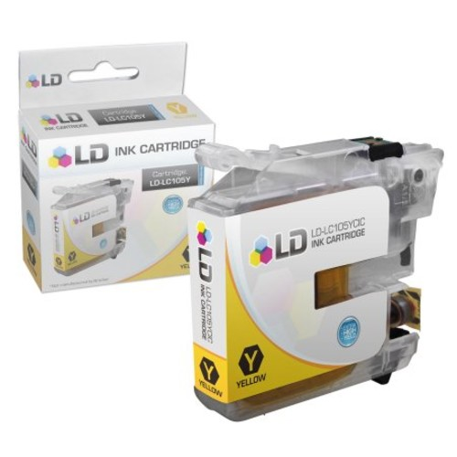 LD Brother Compatible LC105Y Super High Yield Yellow Ink Cartridge for use in MFC-J4310DW, MFC-J4410DW, MFC-J4510DW,