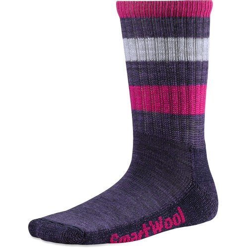 SmartWool Striped Light Hike Crew Socks - Kids'