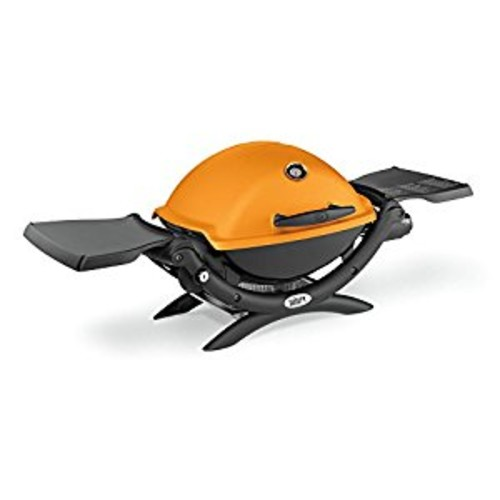 Weber 51190001 Q1200 Liquid Propane Grill, Orange [Orange]