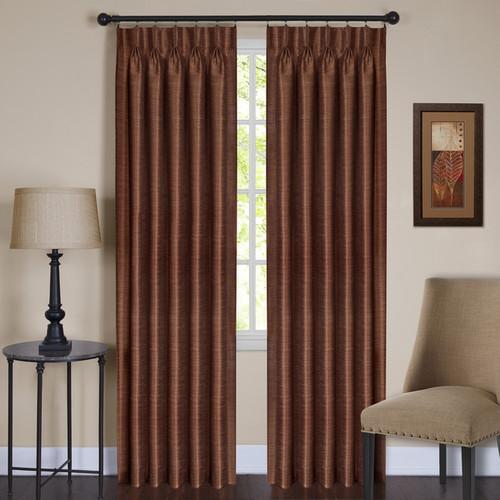 Achim ACHIM Parker Pinch Pleated Window Curtain Panel