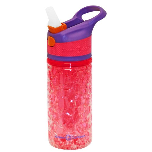 Green Canteen 12 oz. Purple and Pink Double Wall Plastic Tritan Hydration Bottle with Crackle Freeze Gel (6-Pack)