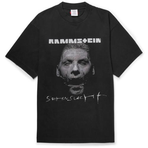 Vetements - + Rammstein Oversized Printed Cotton-Jersey T-Shirt