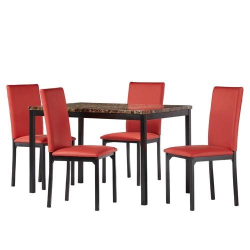 HomeSullivan Bedford 5-Piece Red Dining Set