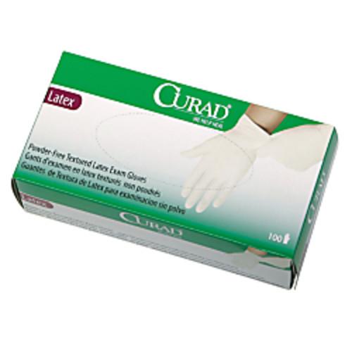 Curad Powder-Free Latex Exam Gloves, Large, Box Of 100