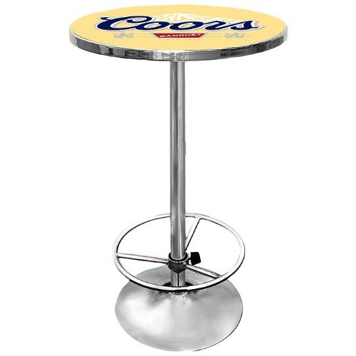 Coors Banquet Chrome Pub Table
