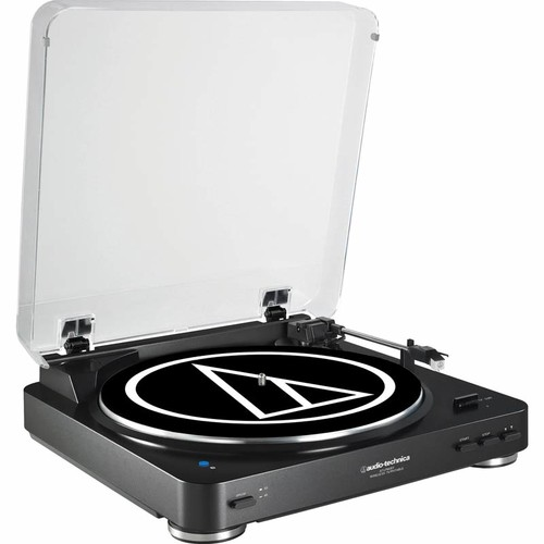 Audio Technica Fully Automatic Wireless Belt-Drive Stereo Turntable with Bluetooth - Black