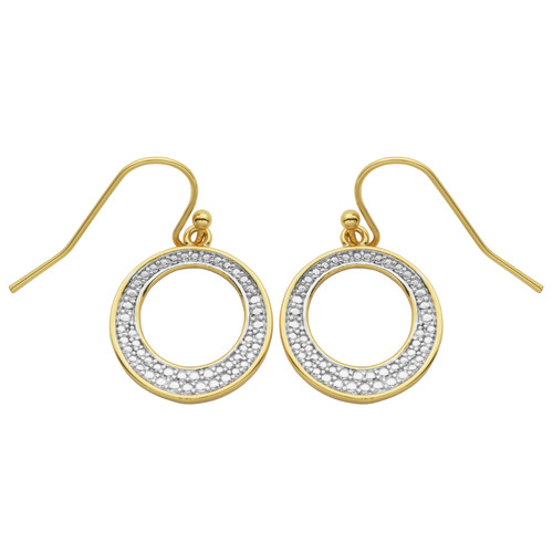 Diamond Accent Circle Earrings