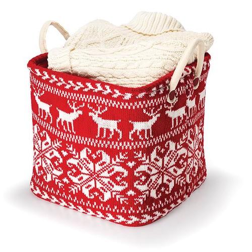 Avon Living Fair Isle Sweater Storage Basket