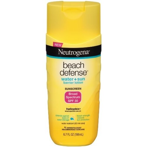 Neutrogena Beach Defense Sunscreen, Water + Sun Barrier Lotion, Broad Spectrum SPF 30, 6.7 fl oz (198 ml)