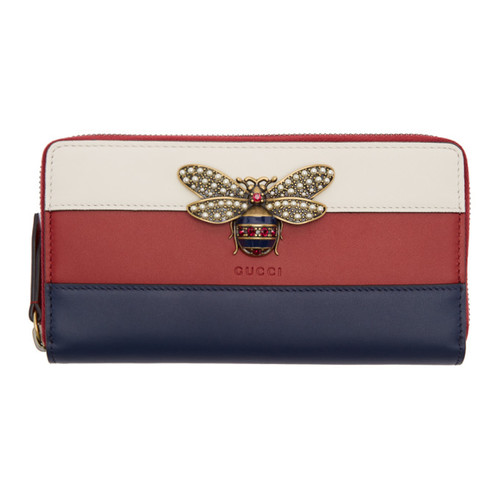 GUCCI Tricolor Queen Margaret Zip Around Wallet