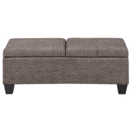 Madison Park Connor Bench in Grey Steel