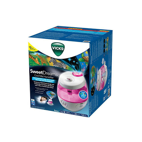 Vicks Sweet Dreams Cool Mist Humidifier - Pink