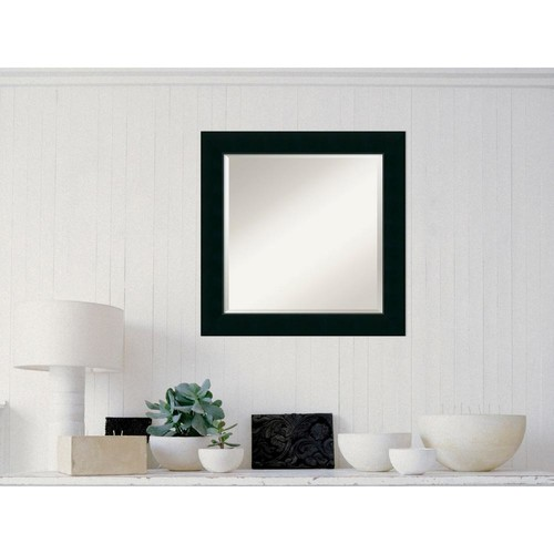 Amanti Art Corvino Black Wood 25 in. W x 25 in. H Contemporary Framed Mirror