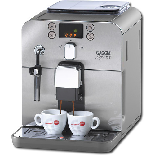Gaggia - Brera Brewer, Stainless Steel Front Panel - Silver/Black