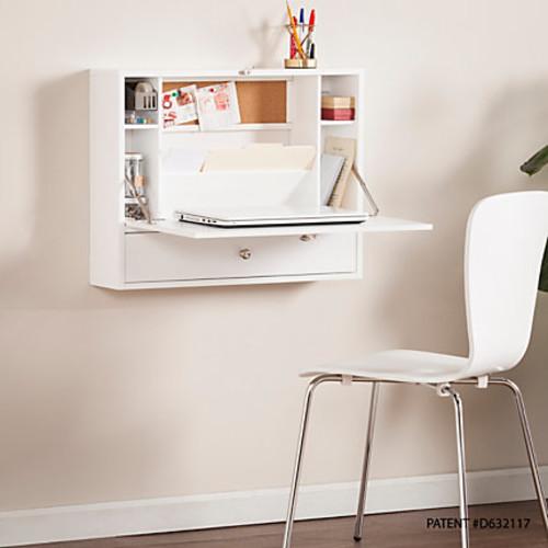 Southern Enterprises Wall-Mount Folding Laptop Desk, White