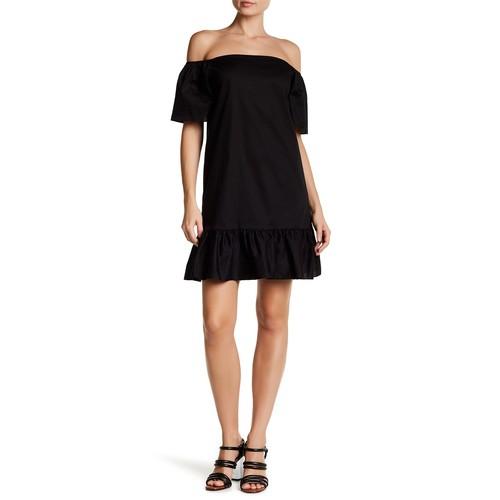 Off-the-Shoulder Ruffle Hem Dress