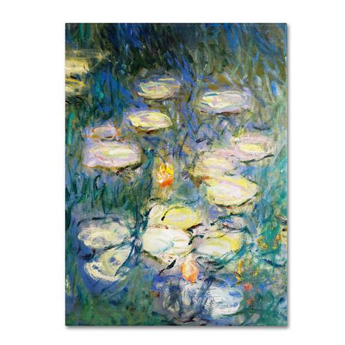 Claude Monet 'Water Lilies V 1840-1926' Canvas Art