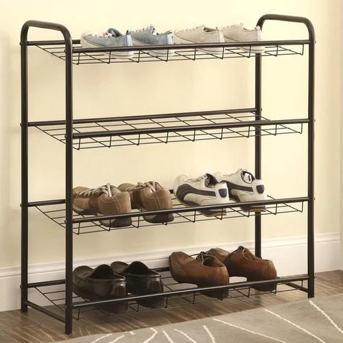 4 Shelf Metal Shoe Storage Rack