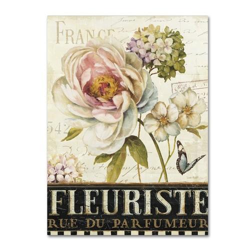 Trademark Fine Art Marche de Fleurs III Canvas Wall Art