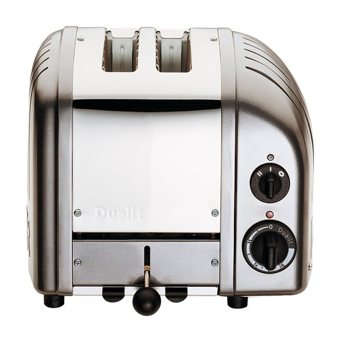 Dualit 2 Slice Classic Toaster, Cobble Gray [Cobble Gray, 2-Slice]