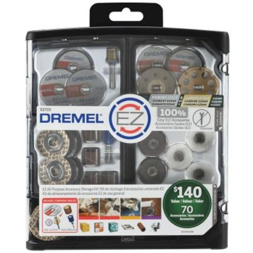 Dremel EZ Lock All-Purpose Rotary Tool Accessory Storage Kit (70-Piece)