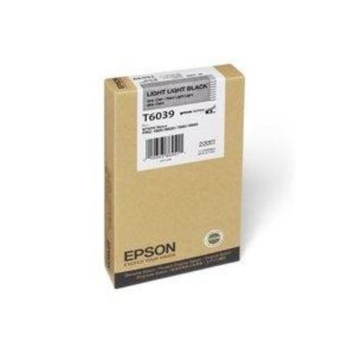 Epson T603900 UltraChrome 220ml Ink, for Stylus Pro 7880, Light, Light Black T603900